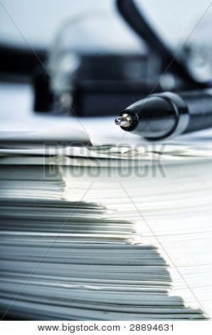 Office Desk Object and Paperwork