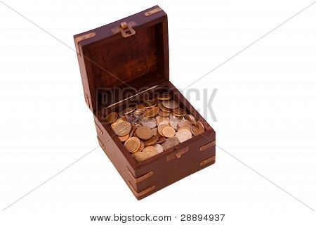 Open Chest With Coins