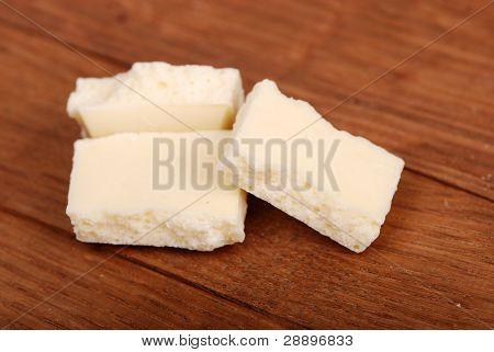 White aerated chocolate