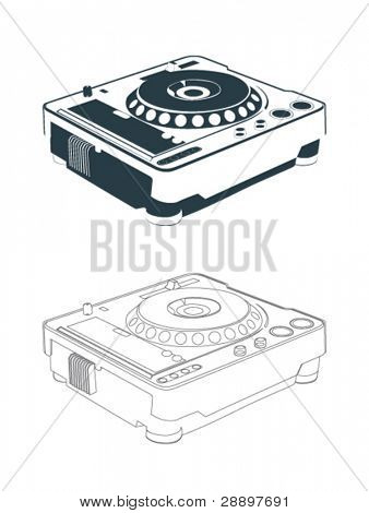 cd turntable