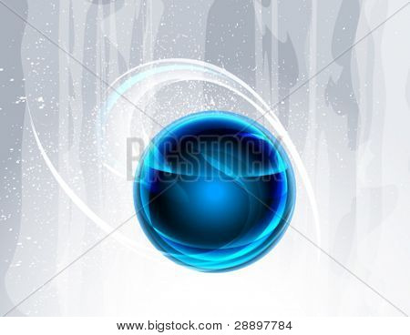 Abstract background with blue sphere