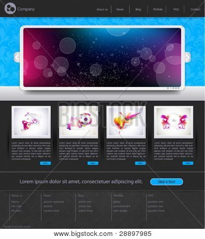 Web site design template