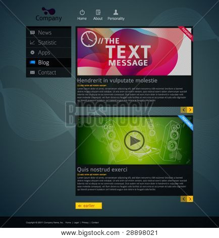 Modern website design template