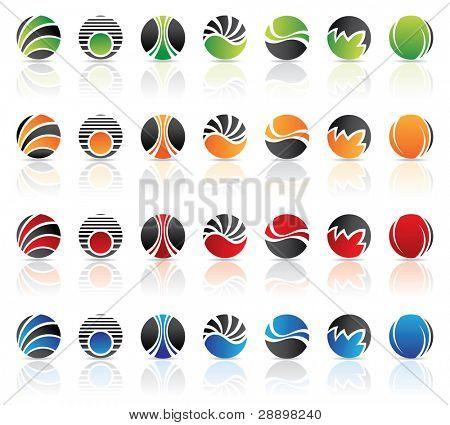 Rodada logos para ir com o nome da empresa