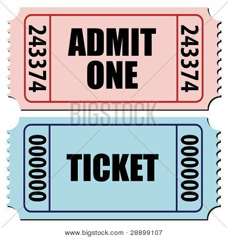 illustration of a pair of tickets isolated on white