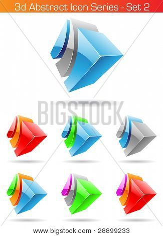 Vector EPS illustration of 3d Abstract Icon Series - Set 2