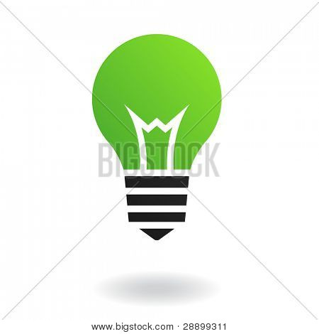 Green bulb isolated on white