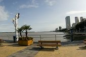 stock photo of guayaquil  - malecon 2000 park boulevard boardwalk on river guayas guayaquil ecuador south america - JPG