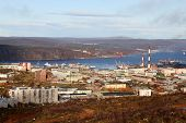 picture of murmansk  - General view from rock in downtown in Murmansk Russia - JPG