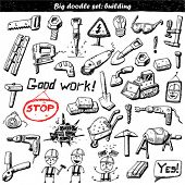 Big doodle set - construction tools