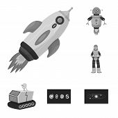 Vector Illustration Of Universe And Travels  Icon. Set Of Universe And Cosmic  Stock Symbol For Web. poster