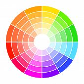 Color Wheel Guide With Saturation And Highlight. Colour Picker Assistant. poster