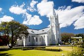 landmark church building in Robertson, South Africa poster