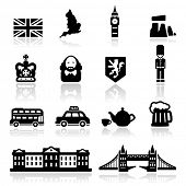 stock photo of william shakespeare  - Icons set British Culture - JPG