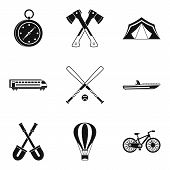 Big Muscle Icons Set. Simple Set Of 9 Big Muscle Icons For Web Isolated On White Background poster