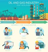 Vector Oil And Gas Industry Staff Recruitment. Search For Candidates. Consultant Construction Drilli poster
