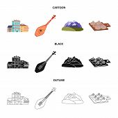 Isolated Object Of Culture And Sightseeing Icon. Set Of Culture And Originality Stock Vector Illustr poster
