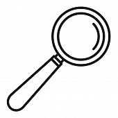 Lab Magnify Glass Icon. Outline Lab Magnify Glass Vector Icon For Web Design Isolated On White Backg poster