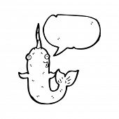 narwhal with speech bubble
