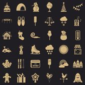 Nice Party Icons Set. Simple Style Of 36 Nice Party Vector Icons For Web For Any Design poster