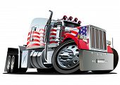 stock photo of big-rig  - Vector cartoon semi truck - JPG