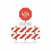 Page With A 404 Error On Road Sign. The Page You Requested Could Not Be Found Web Page Concept. Temp poster