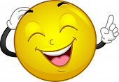 stock photo of laugh out loud  - Illustration of a Laughing Smiley - JPG