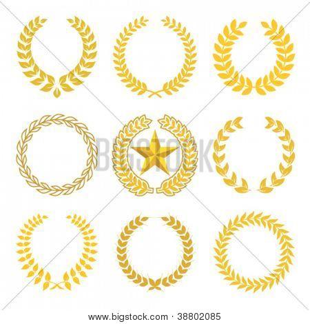 Golden Laurel Kränze