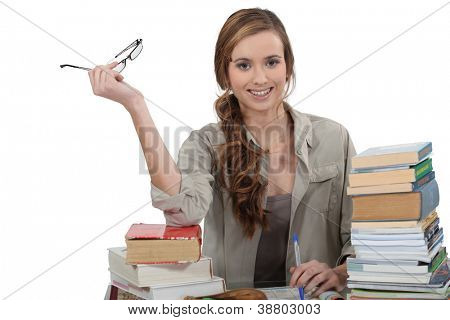 Estudiante revisar