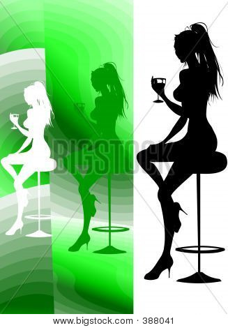 Party Lounge Cocktail Silhouette