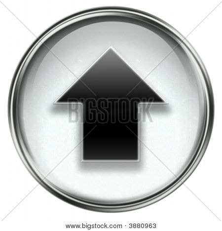 Arrow Up Icon Grey