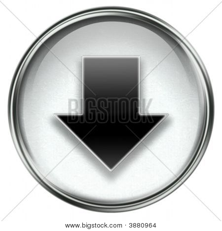 Arrow Down Icon Grey