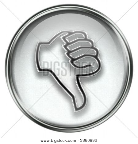 Thumb Down Icon Grey