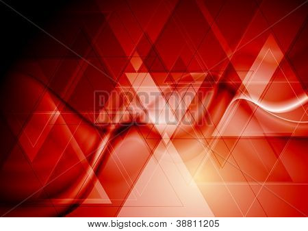 Abstract technology background with waves. Eps 10 vector backdrop
