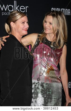 """LOS ANGELES - OCT 26:  DeeDee Pfeiffer, Michelle Pfeiffer arrives at """"The Pink Party '12"""" at Hanger 8 on October 26, 2012 in Santa Monica, CA"""