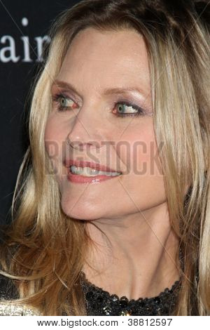 "LOS ANGELES - OCT 26:  Michelle Pfeiffer arrives at ""The Pink Party '12"" at Hanger 8 on October 26, 2012 in Santa Monica, CA"