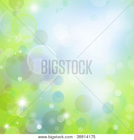 Circles blue and green tone background
