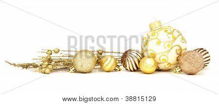 Adornos de Navidad oro