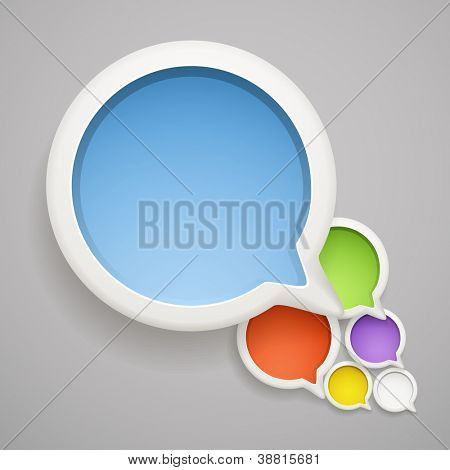 Abstract speech cloud of color bubbles. Ready fo�?�?�?�ª a text