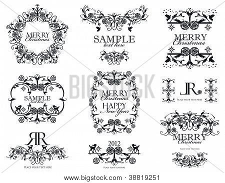 Vector set Christmas label