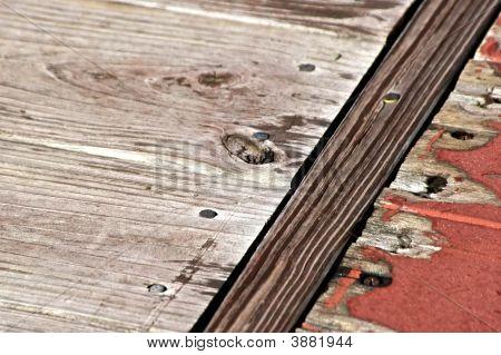 Distressed Wooden Floor