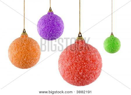 Four Christmas Ornaments