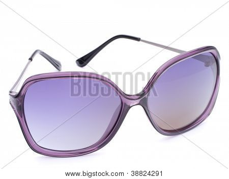 Stylish female sunglasses isolated on white background cutout