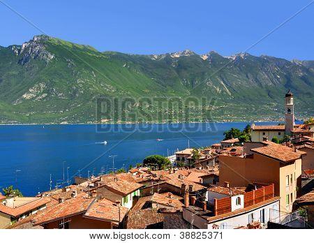 Limone sul Garda,Lake Lago di Garda,Italy