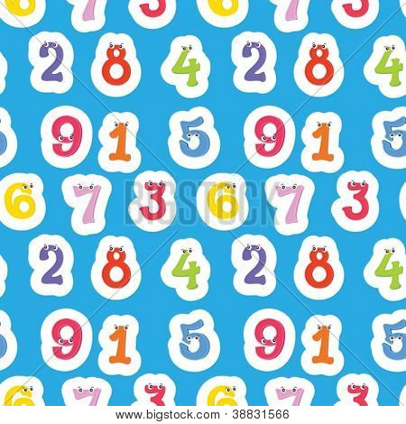 illustration of numbers on a blue background