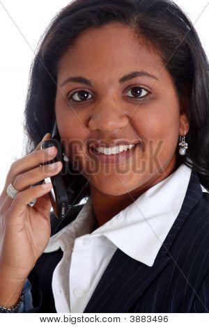Mujer en teléfono