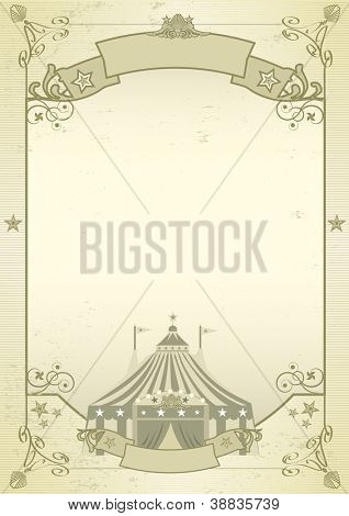kraft circus. An old grunge circus background for a poster