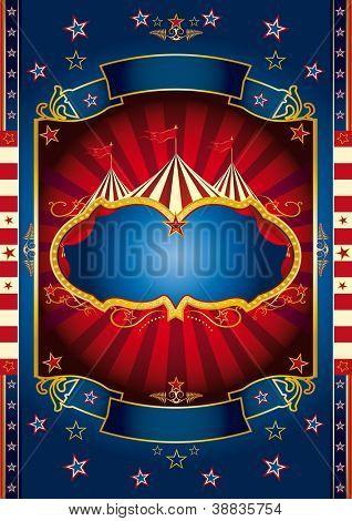 Circo roda vermelha. Um novo fundo de circo para seu show