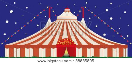 big top by night.