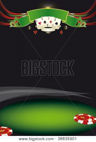 Nice poker background. Use this background for a poster for a casino